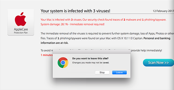 Your Mac is infected with 3 viruses