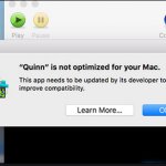 Your Mac needs to be updated to improve compatibility Removal